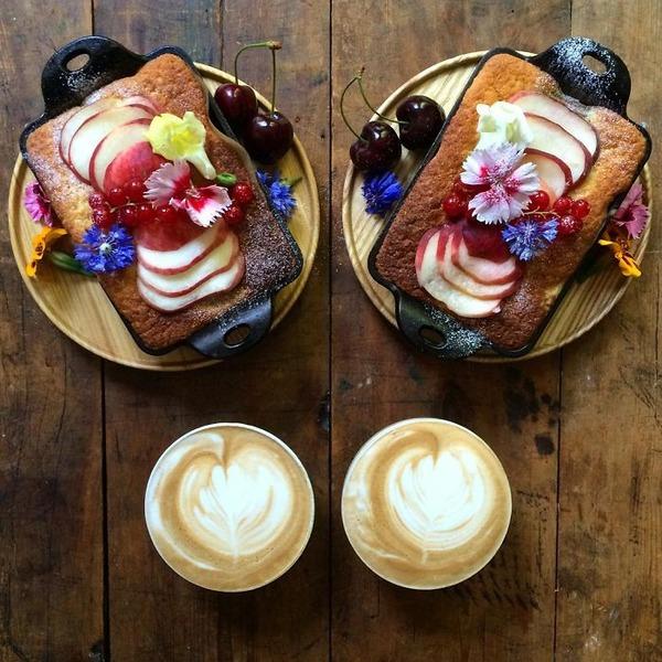 美味しさ2倍!毎日シンメトリーな朝食写真シリーズ (54)