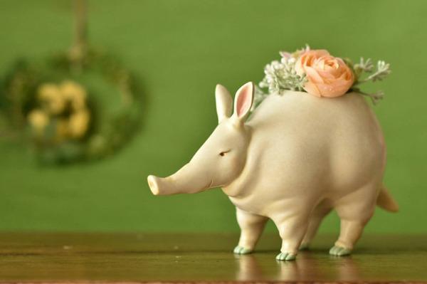 動物や植物な樹脂製アートプランター!『HARIMOGURA』 (2)