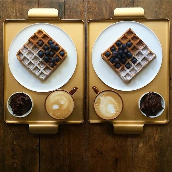 美味しさ2倍!毎日シンメトリーな朝食写真シリーズ (14)