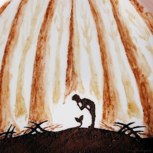 美しいコーヒー画,珈琲画 (2)