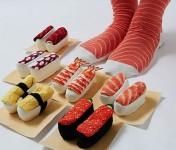 寿司の形をした寿司ソックスがまるで寿司のようだと話題に