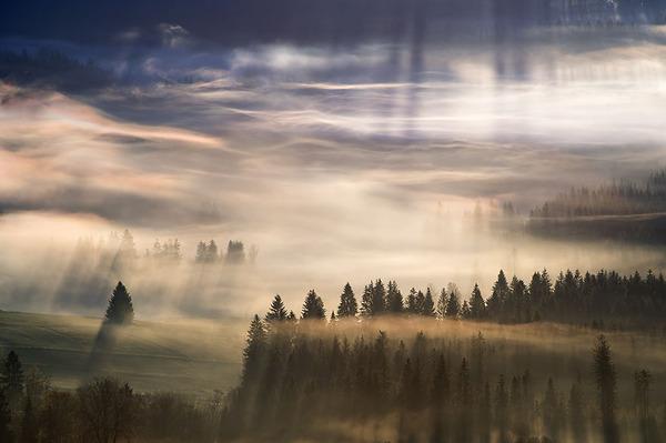 陽が差し込んだポーランドの景色8