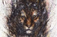 かっけぇ!躍動感溢れる虎の水墨画!HUA TUNAN