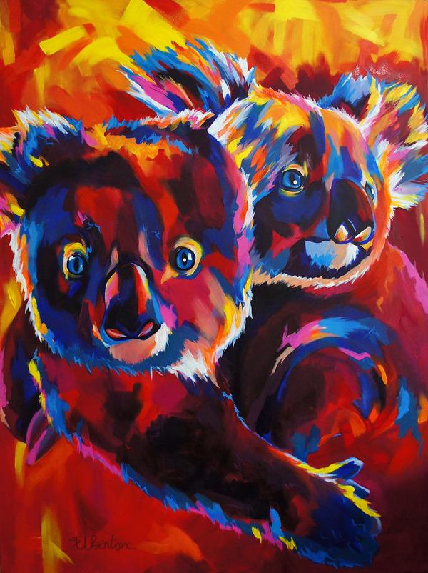 超カラフルな動物の肖像画シリーズ (17)