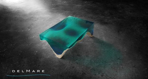 清涼感が半端ない!海からインスピレーションを得たテーブル (3)