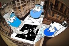 空をキャンバスにイラストを描くスカイアート Skyart