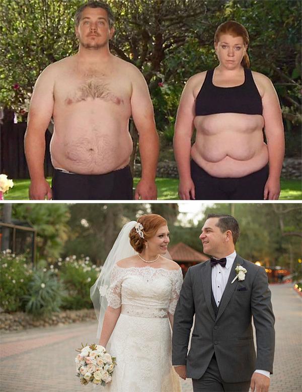 【比較画像】太ったカップルが痩せた (15)
