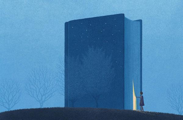 色んな本の形。本をモチーフにしたイラスト (5)