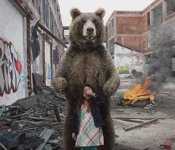 少女と動物と街。壊れた世界のコントラストをリアルに描く (5)