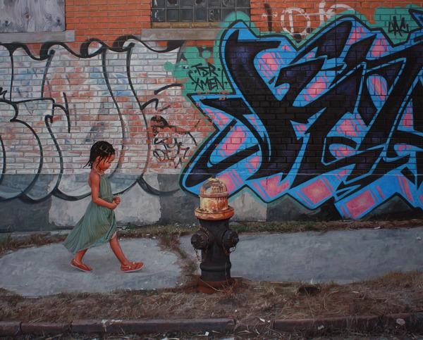 少女と動物と街。壊れた世界のコントラストをリアルに描く (3)