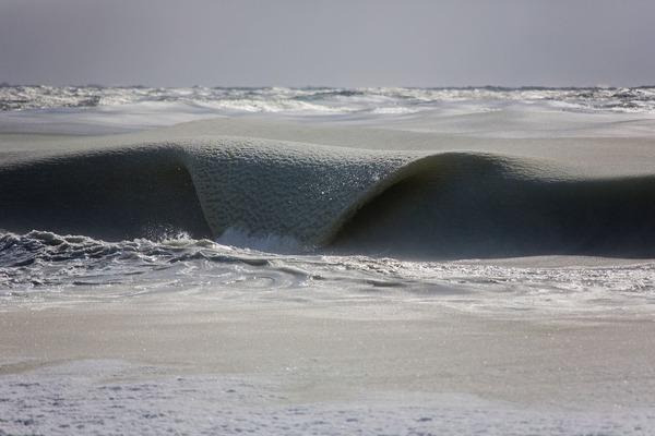 巨大なシャーベット状と化した大西洋