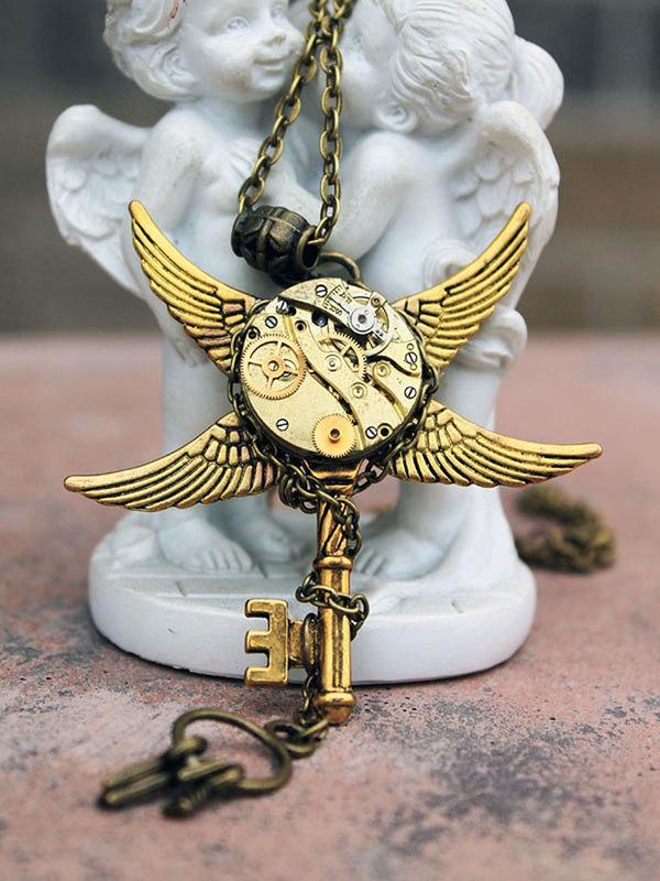 宝石や彫刻で彩られたスチームパンク風アクセサリー (12)