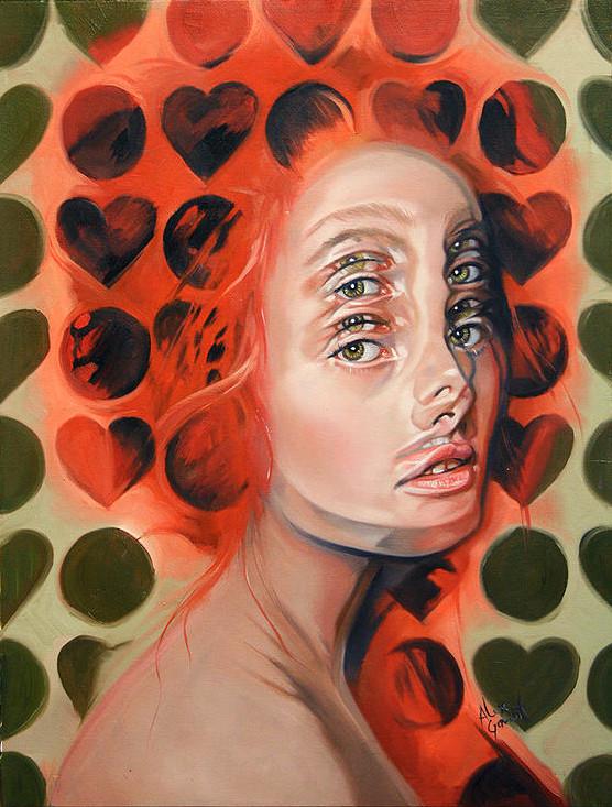 ダブルビジョンの錯視絵画アート  アレックス・ガーランド 4