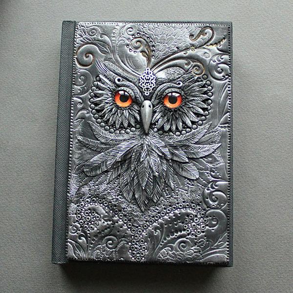 フクロウのブックカバー 2
