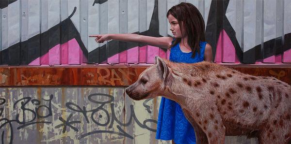 少女と動物と街。壊れた世界のコントラストをリアルに描く (9)