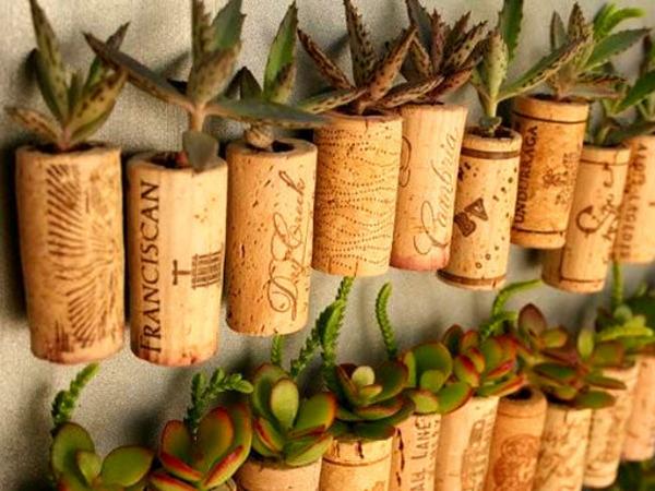 ワインコルクの庭