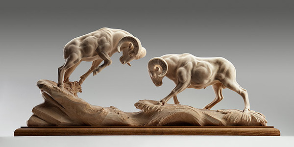 生き生きとした躍動感!野生動物の木彫りの彫刻作品 (8)