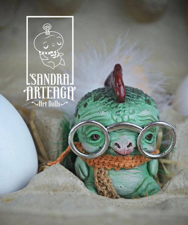 キモカワ!?ポリマークレイ製の手作りクリーチャー人形 (16)
