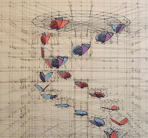 黄金比で描かれた手描きイラスト集!蝶や貝殻など (2)