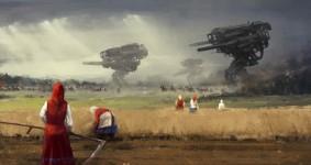 レトロな時代背景に機械的SF要素。もう一つの戦争を描いた空想世界