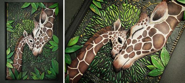 動物や自然をモチーフにした幻想的なブックカバー! (7)