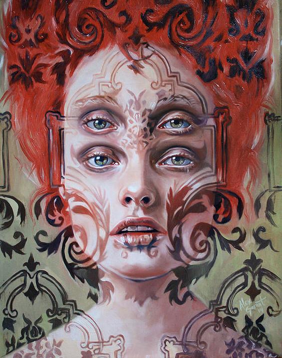ダブルビジョンの錯視絵画アート  アレックス・ガーランド 11
