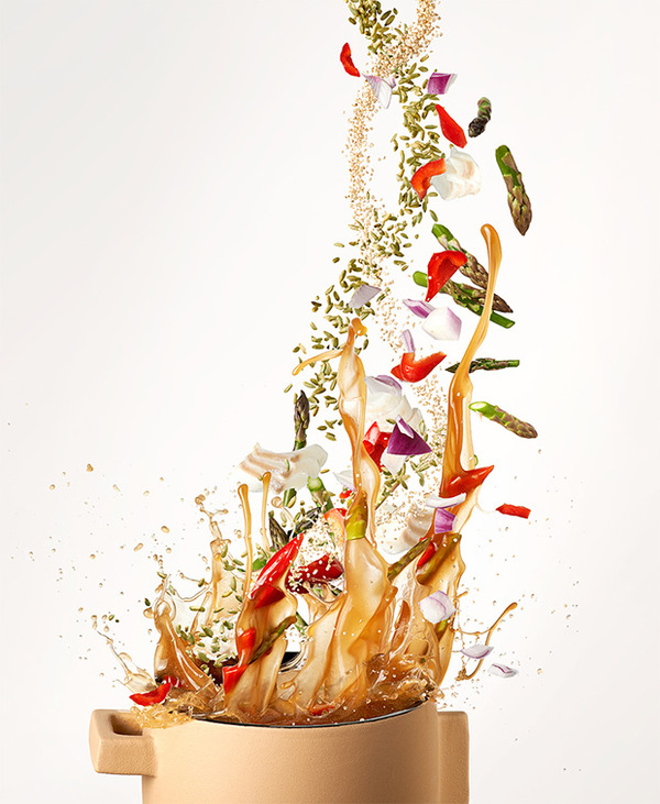 躍動する料理や食べ物の画像 (9)