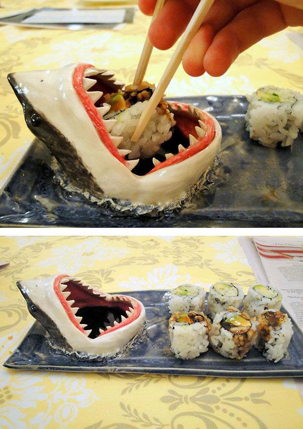 鮫のお寿司皿