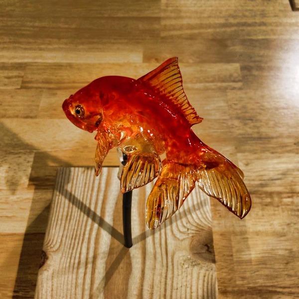 金魚の飴細工 3