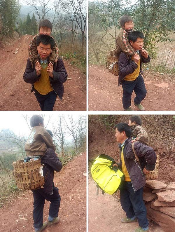 #1 学校まで息子を運ぶお父さん