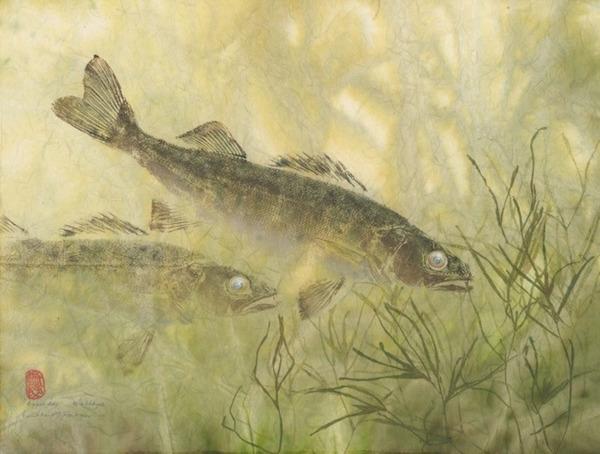 日本文化『魚拓』で描かれる海外アーティストによる絵画作品 (3)