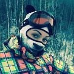 動物気分?動物の顔がプリントされたスキー用フェイスマスク