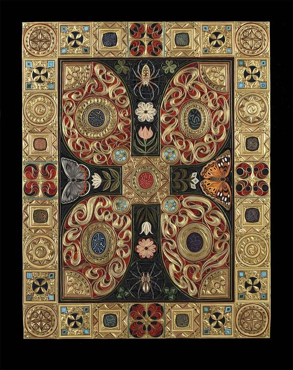紙で作られた絨毯など、超大作なペーパークイリングアート! (6)