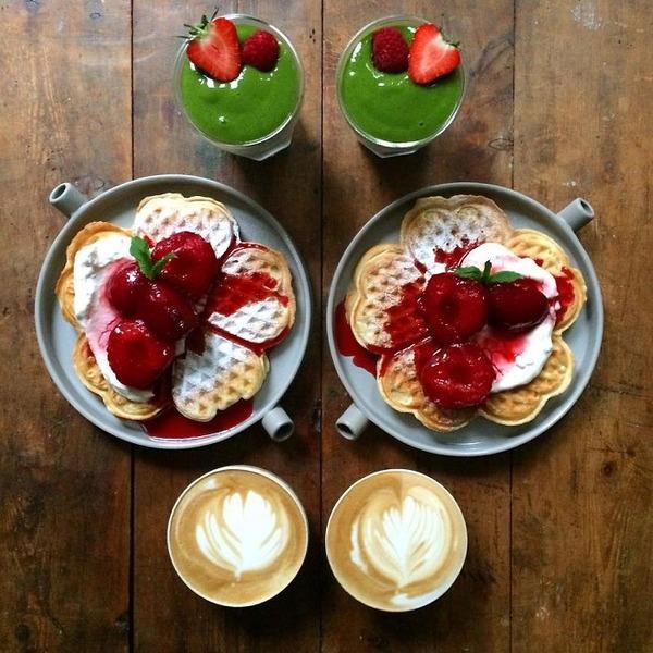 美味しさ2倍!毎日シンメトリーな朝食写真シリーズ (38)