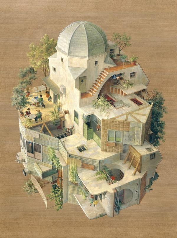 チンダビダルの錯視的絵画アート Cinta Vidalby 2