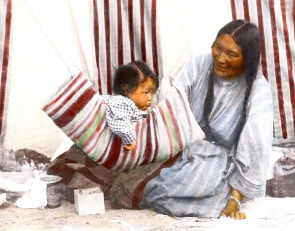 インディアン(ネイティブ・アメリカン)の貴重なカラー化写真 (8)