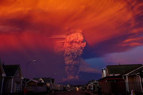 チリのカルブコ火山噴火 2015年 2