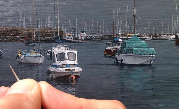 写真と見間違いそう!超精密でリアルな都市風景画 (12)
