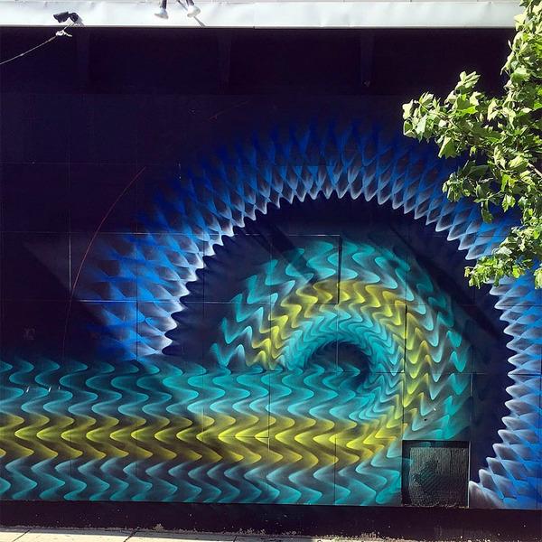 全部スプレー!ちょっとサイケデリックなストリートアート (7)