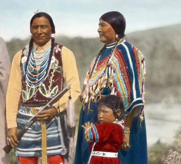 インディアン(ネイティブ・アメリカン)の貴重なカラー化写真 (5)