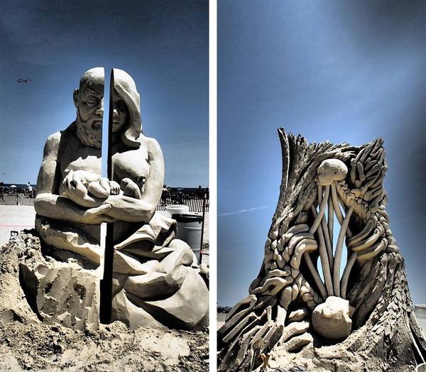 砂の彫刻コンテスト ハンプトン・ビーチ (20)