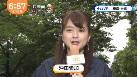 めざましどようびでお天気キャスターをしている沖田愛加(明治大学理工学部4年)ってあれ好きそうな顔してるよな
