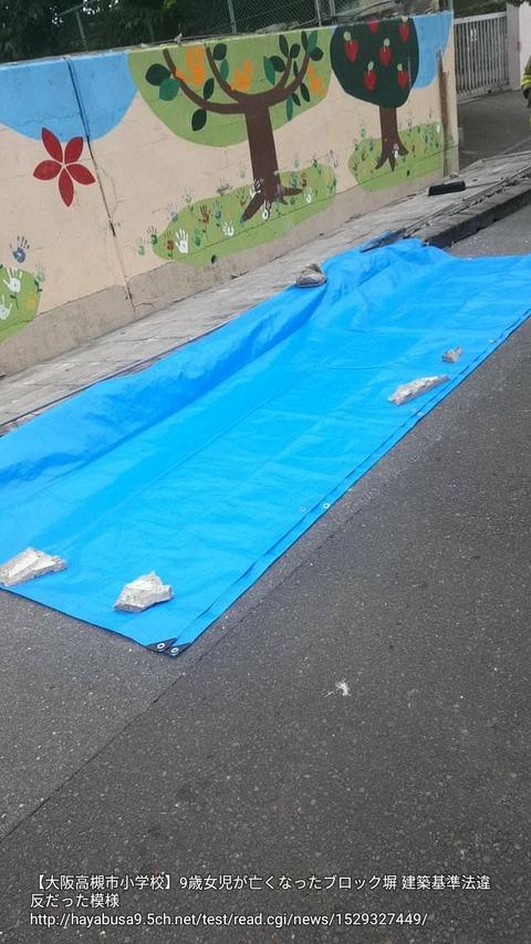 【大阪高槻市小学校】9歳女児が亡くなったブロック塀 建築基準法違反だった模様
