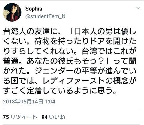 4f609db2-s 女の子が正論「男女平等の台湾ではレディファーストが進んでる。日本の男も見習え。」