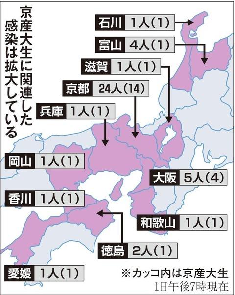 欧州旅行からコロナ持ち帰ってきた京都産業大学の学生さんの戦果凄すぎと話題wwwwwwwwwwwwwww