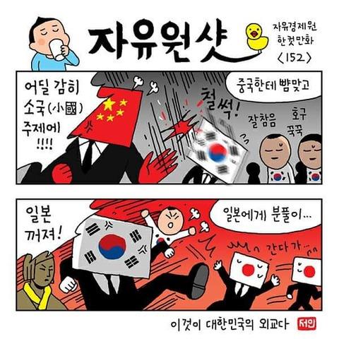 2ch:韩国的讽刺漫画太优秀了