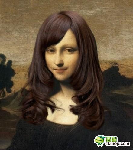 モナ・リザ 女子大生風の髪型