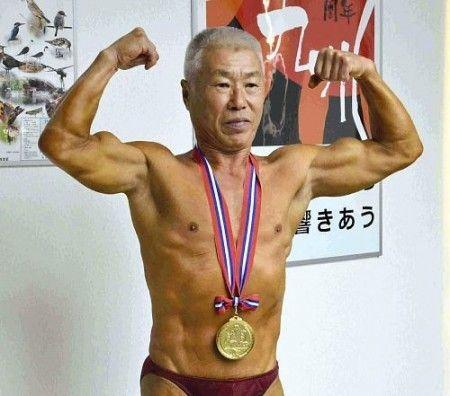全日本ボディビル 70歳優勝