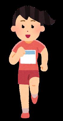 sports_run_syoumen_woman_zekken