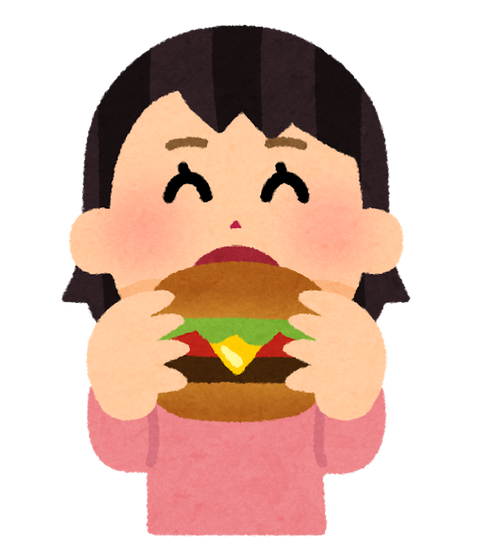 syokuji_hamburger_girl